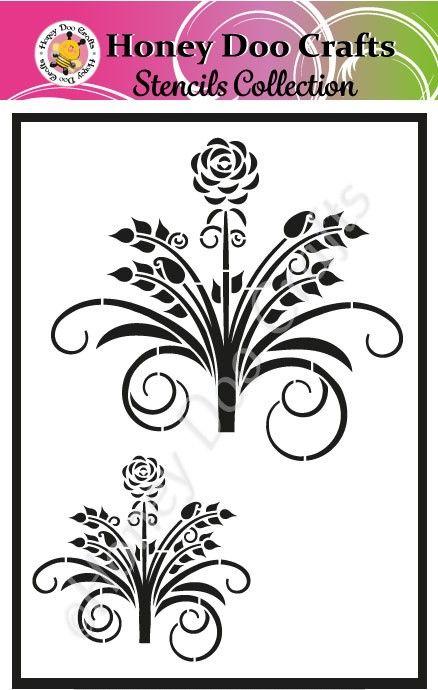 Honey Doo Crafts Stencils - Beautiful Bouquet  (A5 Stencil)