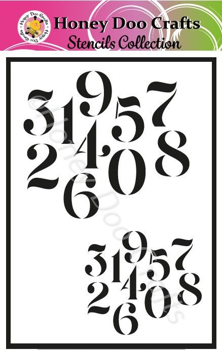 Honey Doo Crafts Stencils - Numbers  (A5 Stencil)