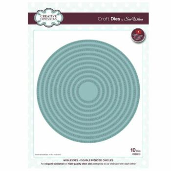 Creative Expressions Noble Double Pierced Circle Craft Dies - Was £35 NOW £22.50