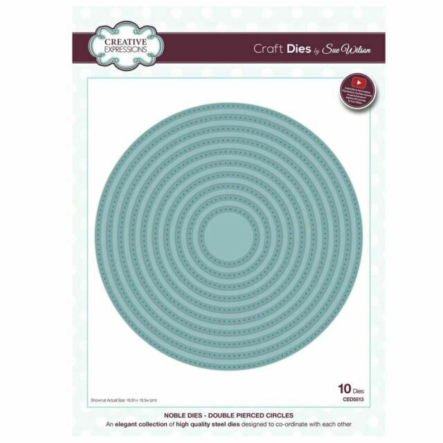 Creative Expressions Noble Double Pierced Circle Craft Dies - Was £35 NOW £