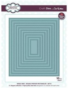 Creative Expressions Noble Double Pierced Rectangles Craft Dies  Was £35 NOW £22.50