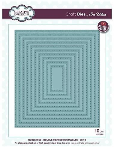 Creative Expressions Noble Double Pierced Rectangles Craft Dies  Was £35 NO