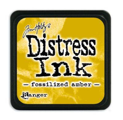 Mini Distress Ink Pad - Fossilized Amber