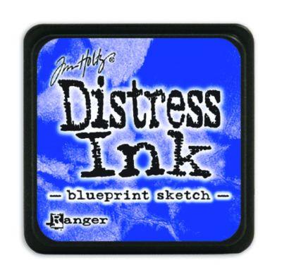 Mini Distress Ink Pad - Blueprint Sketch
