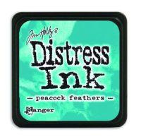 Mini Distress Ink Pad - Peacook Feathers