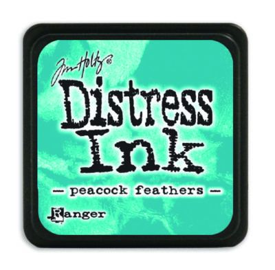 Mini Distress Ink Pad - Peacook Feathers