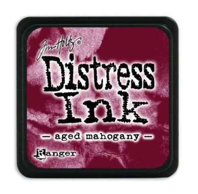Mini Distress Ink Pad - Aged Mahogany