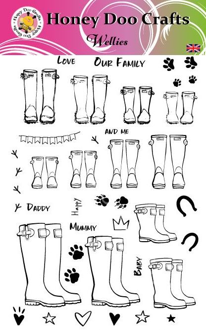 Wellies  (A5 Stamp)