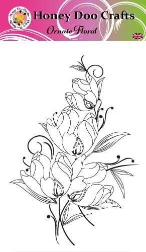 Ornate Floral  (A6 Stamp)