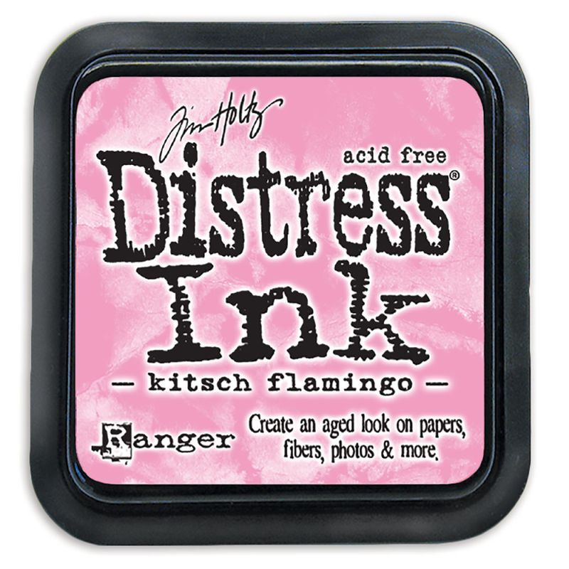 Mini Distress Ink Pad - Kitsch Flamingo