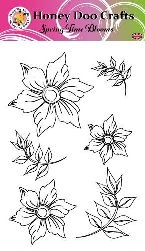 Spring Time Blooms    (A6 Stamp)