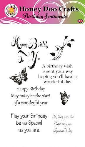 Birthday Sentiments  (A6 Stamp)