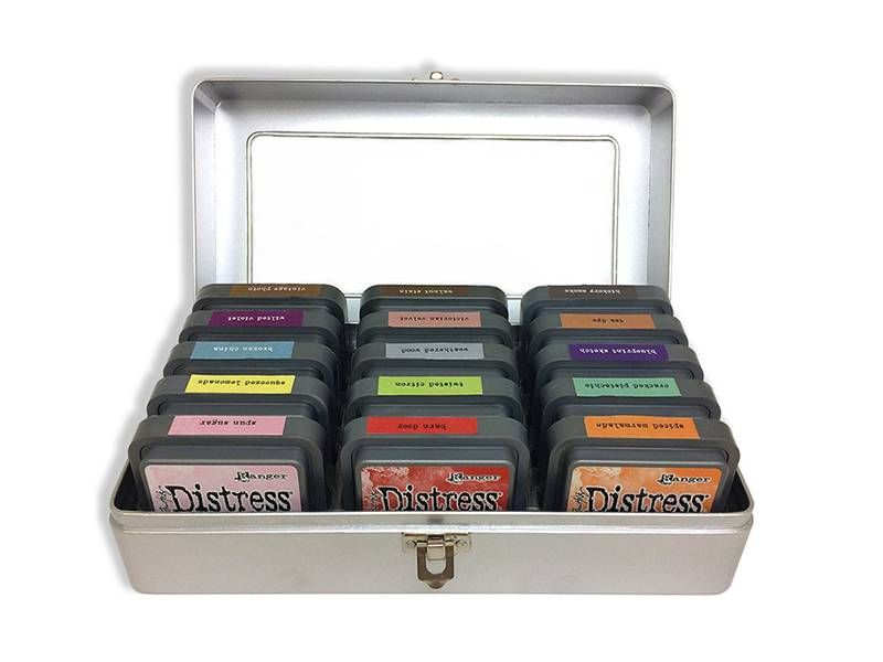 Ranger Tim Holtz Distress Ink Pad/Distress Oxide Storage Tin – Holds (15)