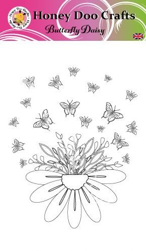 New - Butterfly Daisy  (A6 Stamp)