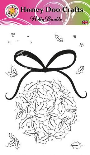 New - Holly Bauble  (A6 Stamp)
