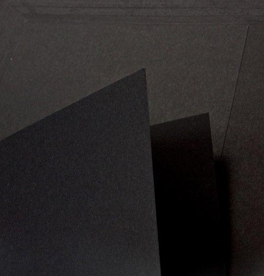 10 Sheets A4 Jet Black Card – 320 Gsm