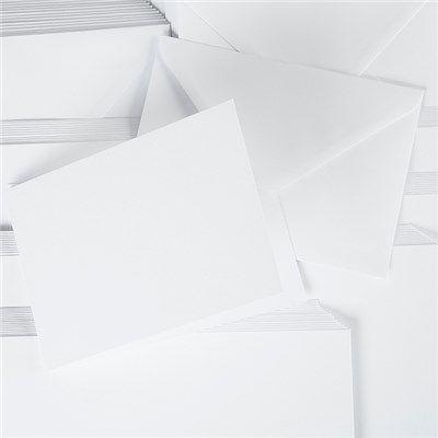 10 Mont Blanc Cards and Envelopes – A5 Landscape White – 350gsm