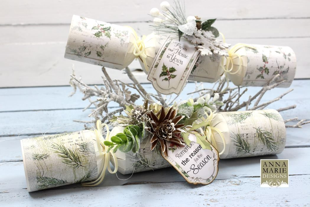 Die Cut Christmas Crackers - PK 20 - White