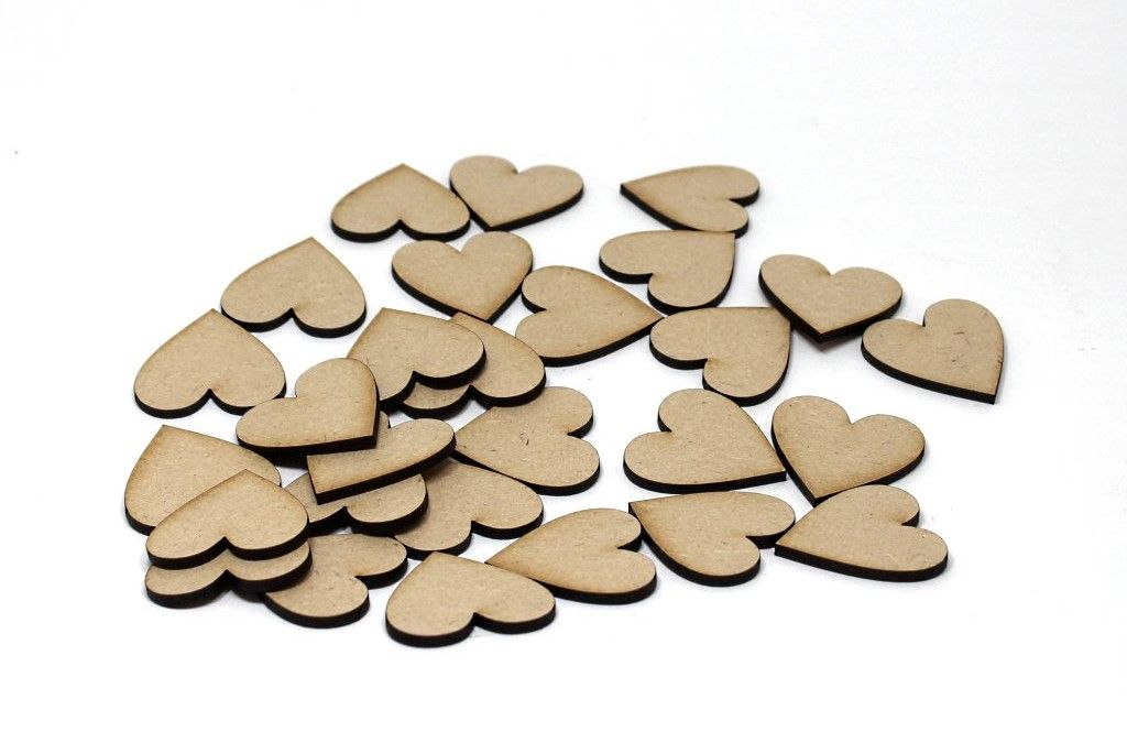 MDF Hearts PK 28 – 4 cm