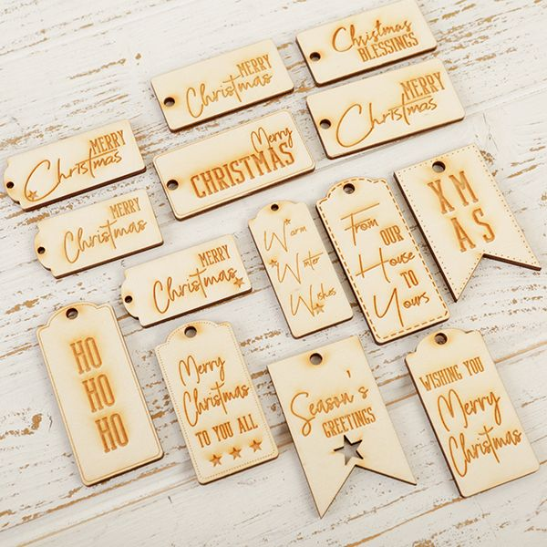 Engraved Christmas Tags - Pack of 14