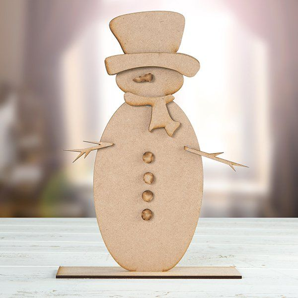 MDF Stand Up Snowman