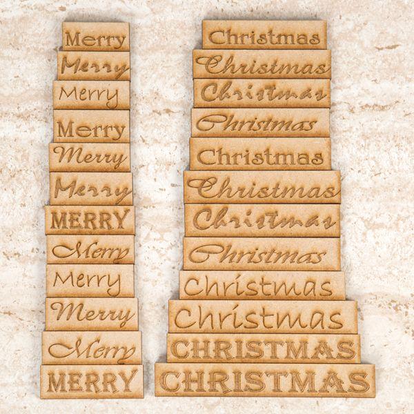 MDF Engraved Christmas Tiles – PK 14