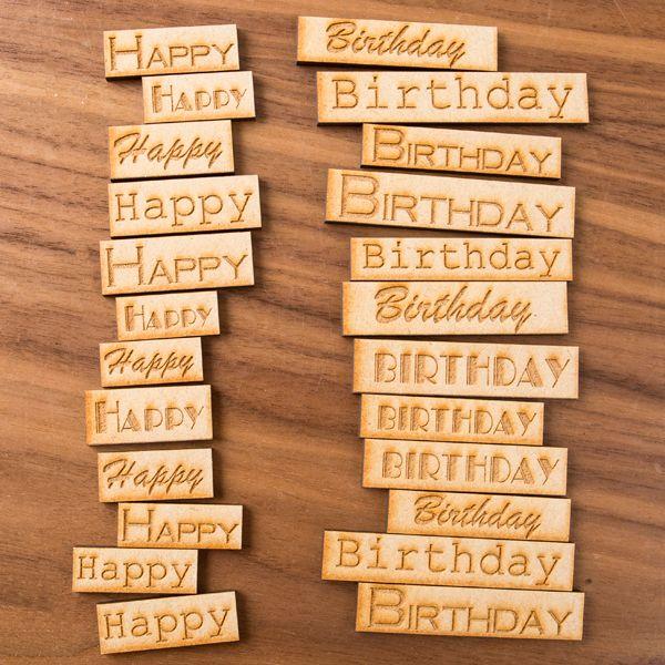 MDF Engraved Birthday Tiles