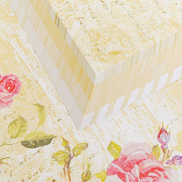 40 A4 Sheets Blissful Card  – Lemon