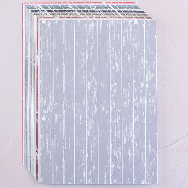 36 Sheets A4 Wood Grain Card Collection – 12 Colours