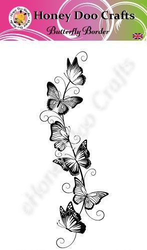 Butterfly Border Stamp (A6 Stamp)