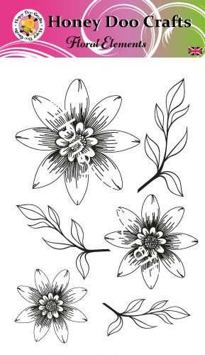New - Floral Elements (A6 Stamp)