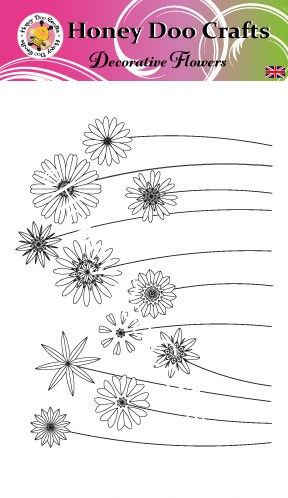 New - Decorative Flowers  (A6 Stamp)