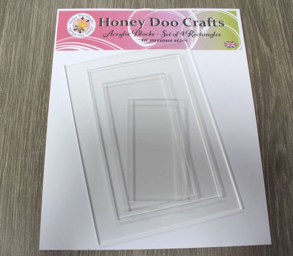 Acrylic Blocks - Set of 4 Rectangles in various Sizes