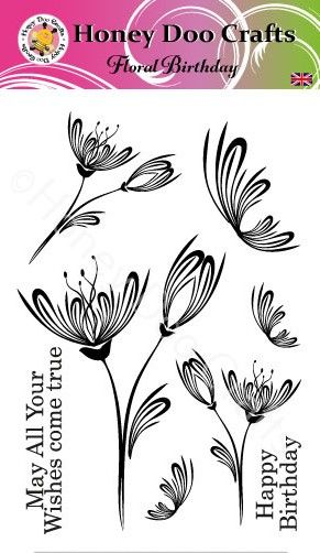 New - Floral Birthday   (A6 Stamp)