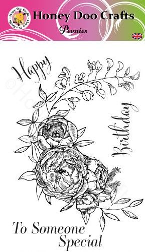 New - Peonies   (A6 Stamp)