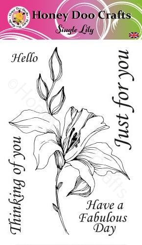 New - Single Lily  (A6 Stamp)