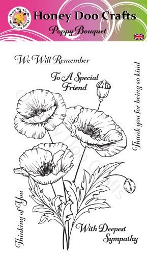 New - Poppy Bouquet   (A6 Stamp)