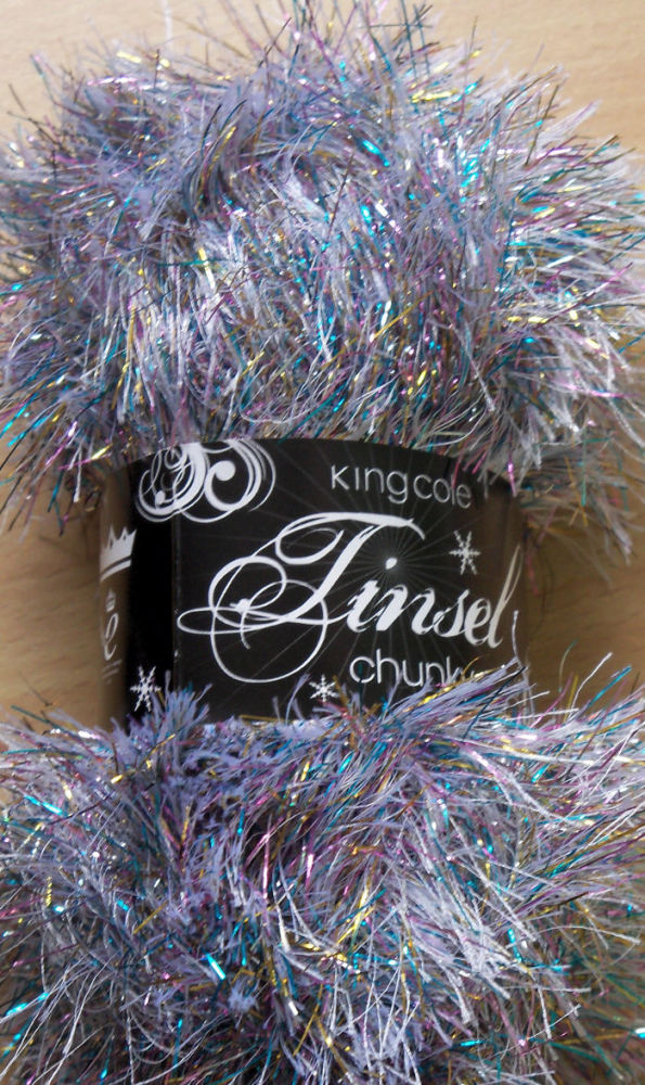 Argent Tinsel Chunky Wool