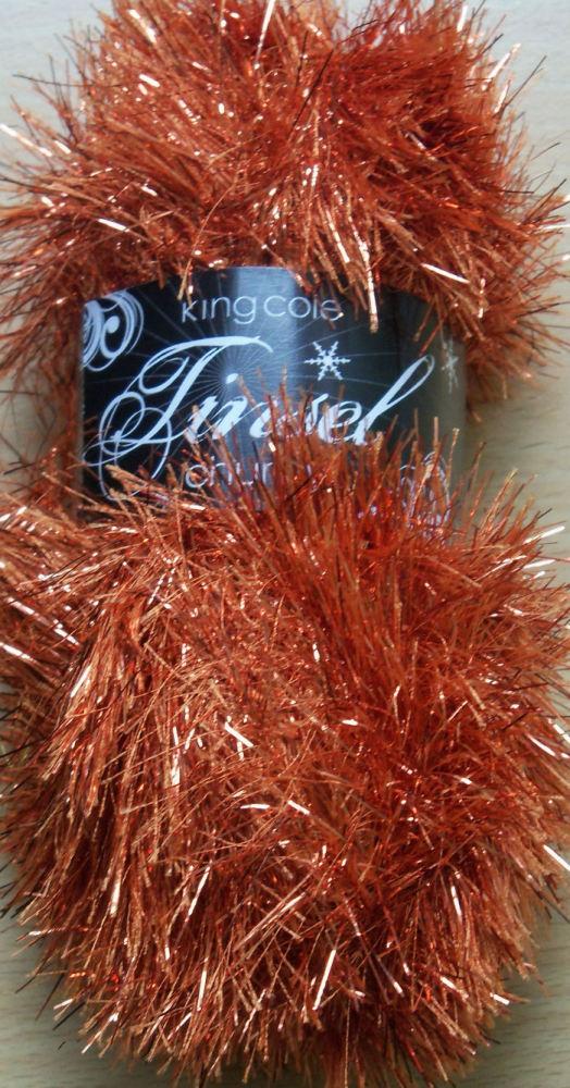 Rusty Tinsel Chunky Wool