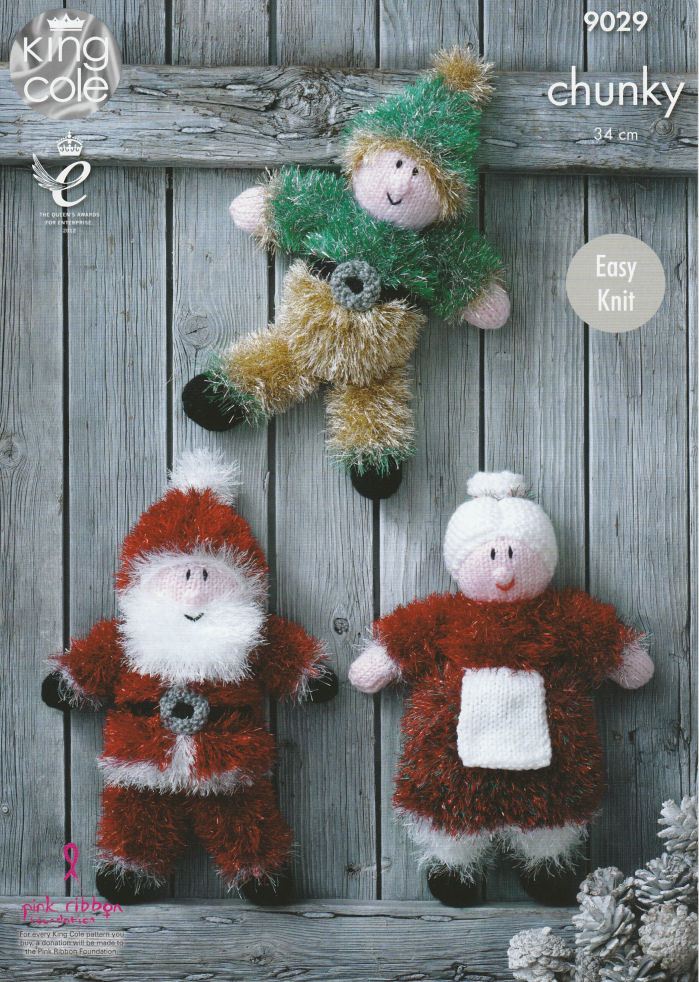 Tinsel Christmas Toys Knitting Pattern