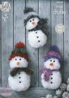 Tinsel Snowmen Knitting Pattern