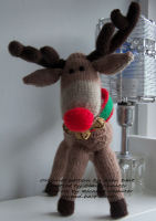 Hand Knitted Reindeer - Made to Order