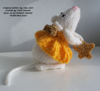 Hand Knitted Angel Mouse