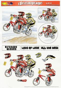 BMX Decoupage Sheet
