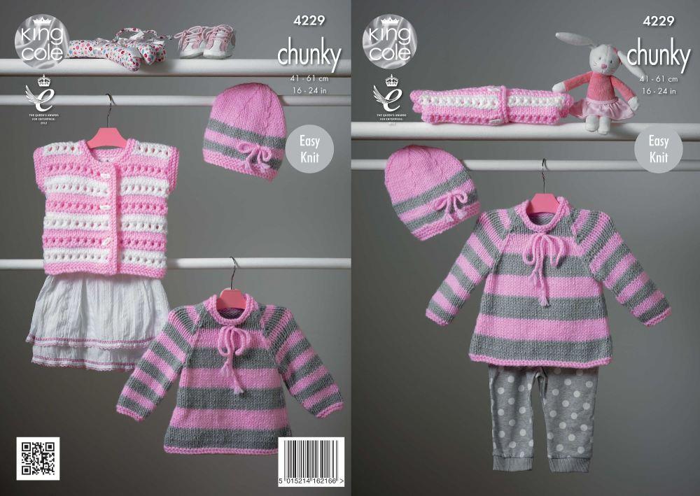 Cape Style Sweater, Hat & Cardigan