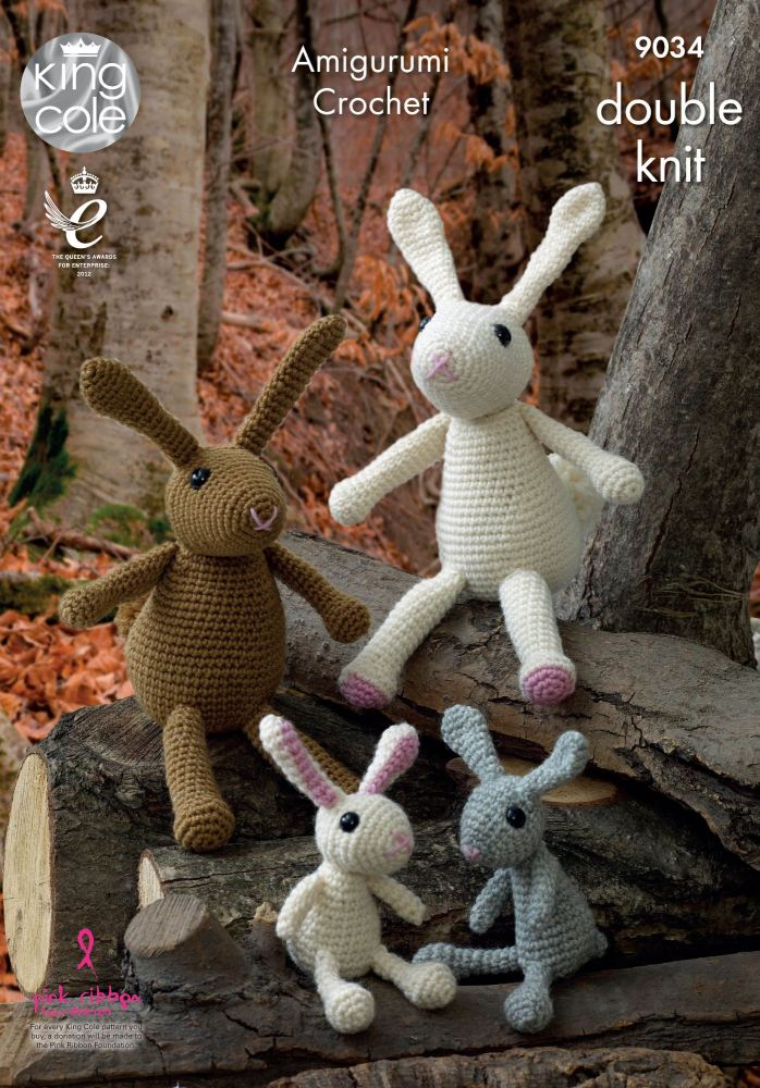 Amigurumi Crocheted Rabbit Family