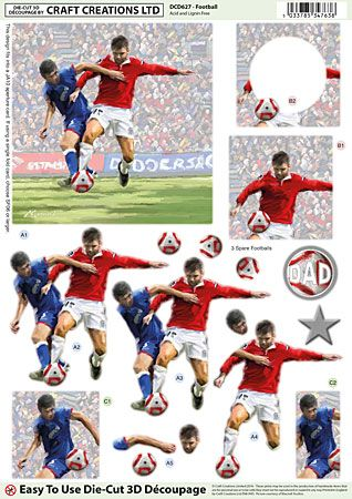 Football Diecut Decoupage Sheet