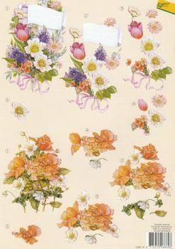 Flower Bouquet Decoupage Sheet