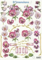 Pansies Decoupage Sheet