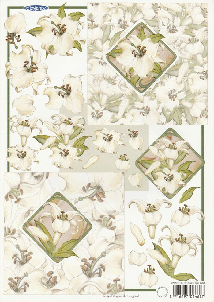 Lily's Decoupage Sheet